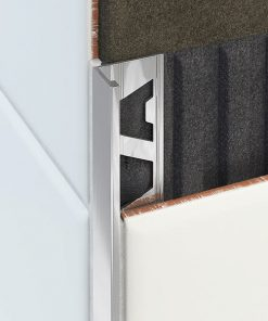 L Profile Aluminium 22mm Bright Silver x 3m-0