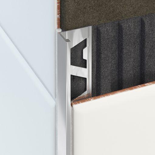 L Profile Aluminium 8mm Bright Silver x 3m-57