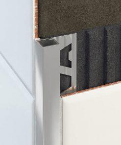 All-Quad Profile Aluminium 10mm Brushed Bright Silver x 3m-0