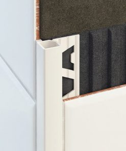 All-Quad Profile Aluminium 6mm White x 3m-0