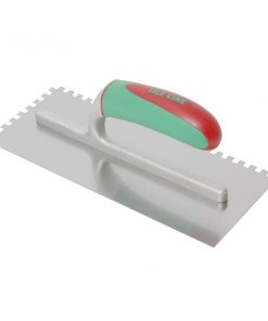 Notched Trowel Stainless Steel 8mm Soft Grip-0