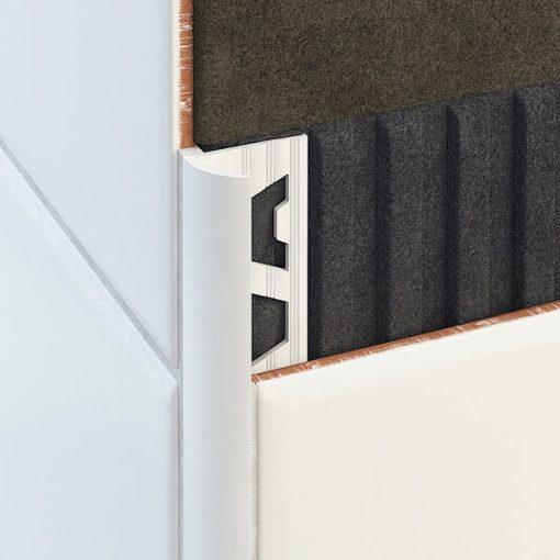 All-Curve Profile PVC 10.5mm White x 2.5m-0