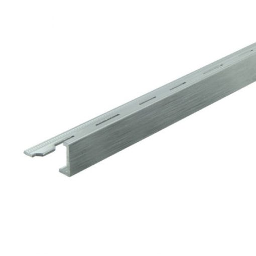 L Profile Aluminium 8mm Brushed Bright Silver x 3m-0