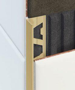 L Profile Brass 22mm Natural Finish x 3m-0
