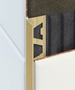 L Profile Brass 8mm Natural Finish x 3m-0