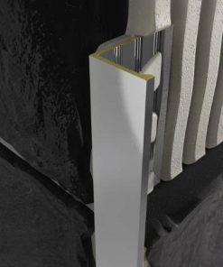L Profile Brass 8mm Chrome Plated x 3m-0