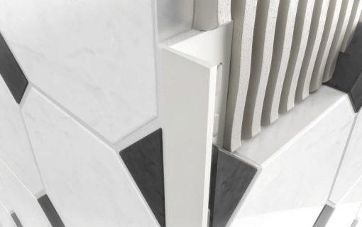 L Profile PVC 10mm White x 2.5m-0