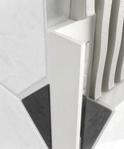 L Profile PVC 12mm White x 2.5m-0