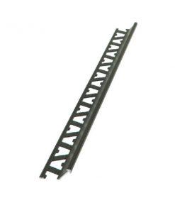Slimline Profile Aluminium 10mm Bright Silver x 3m-0